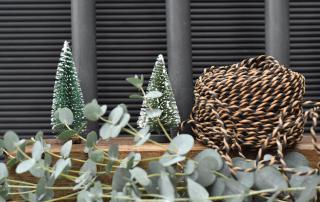 DIY, Kerzenbrett, Eukalyptus, Tannenbäume Kerzenschein, Gemütlichkeit