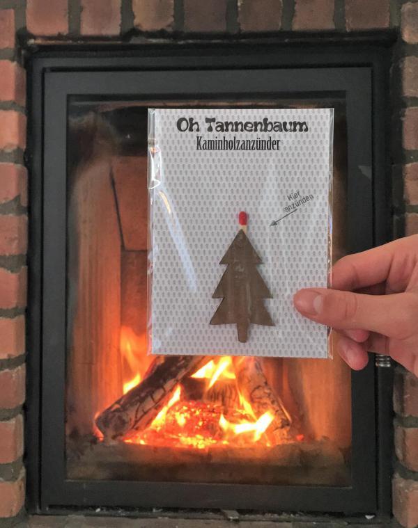 Oh Tannenbaum Kaminholzanzünder, Kachelofen, Feuer, Weihnachten, Advent, praktische Kleinigkeit, Mitbringsel, Grillanzünder