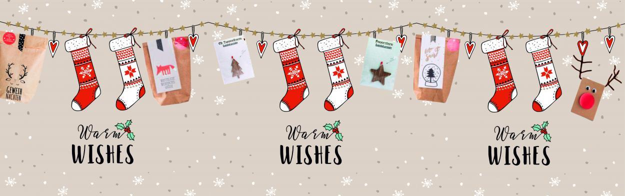 Winterliche Weihnachtsgrüße.Feste Besondere Anlässe Wunderle Wundertüte Winterliche
