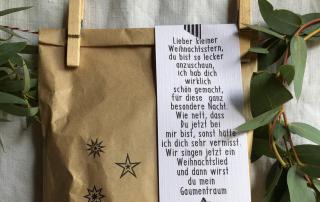 ^Kleiner Weihnachtsstern, Wundertüte, Backen, lecker, gefertigt in Werkstätten für bBehinderte Menschen, Kleinigkeit, Mitbringsel, Weihnachten, Advent