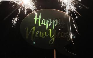 Happy New Year, Wunderkerzen, Silvester, Jahreswechsel, Willkommen 2019