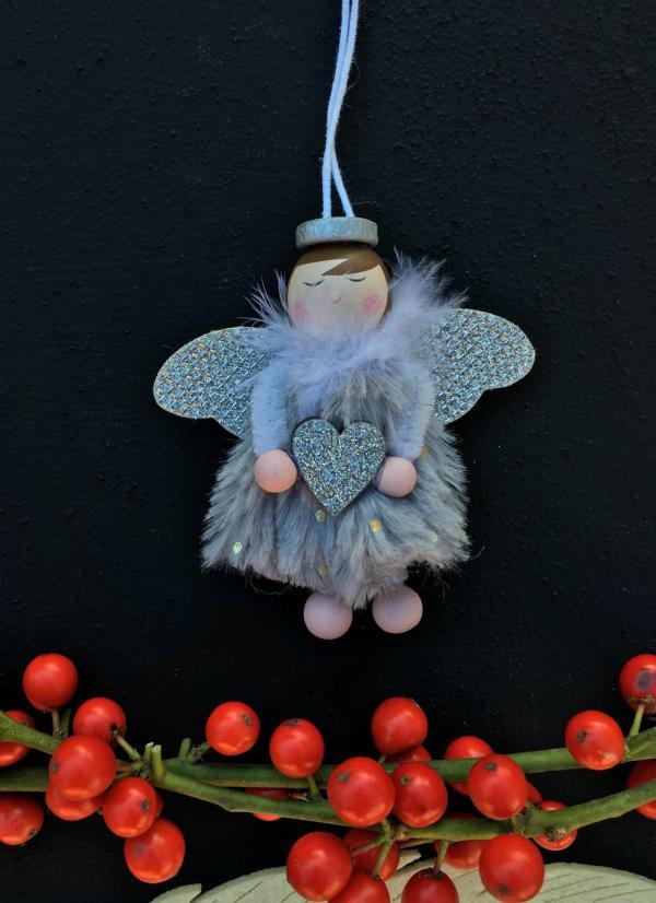 Engel, Detail Wundertüte, Anhänger