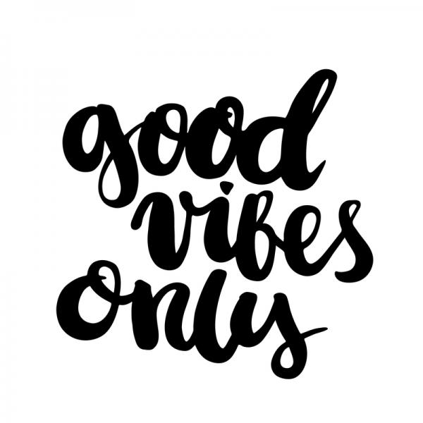 Good Vibes, Lettering, Silvester, Wunsch