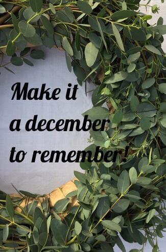 Lettering, Make it a december to remember, Olivenkranz, Weihnachten, Dezember, Advent