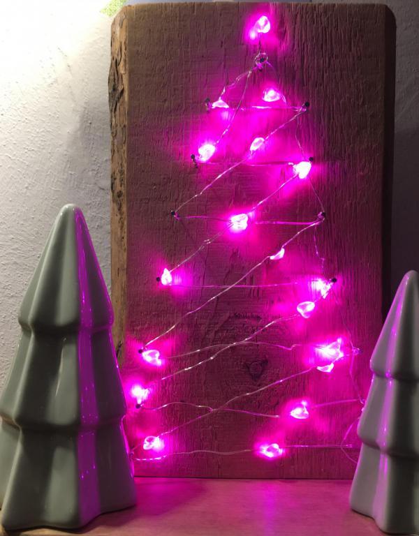 DIY, kleiner Tannenbaum, easy peasy, schnell gemacht, umweltfreundlich, beleuchtet