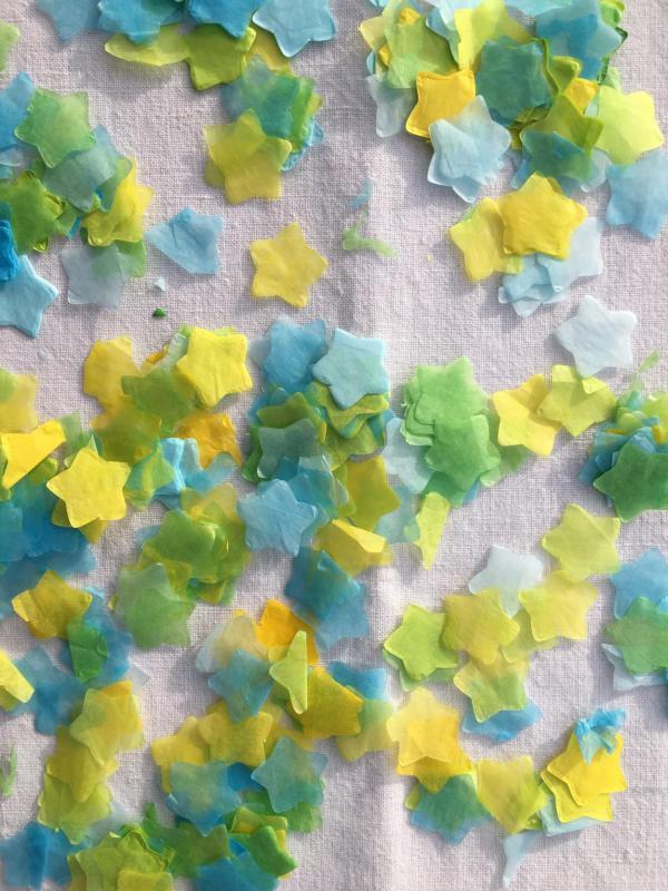Konfetti, Sternenkonfetti, Party, farbenfroh
