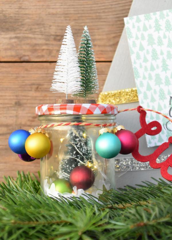 Tannenbaum To Go, Glas, DIY, Weihnachten, Geschenk, Kleinigkeit, Wunderle