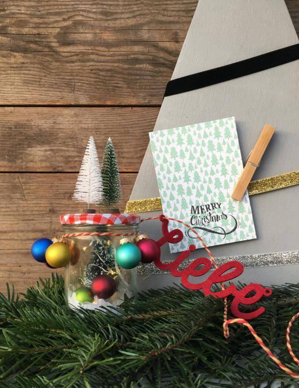 DIY, Weihnachtsglas, Weihnachtsdekoration, Liebe, Wunderle, gefertigt in Werkstätten für behinderte menschen