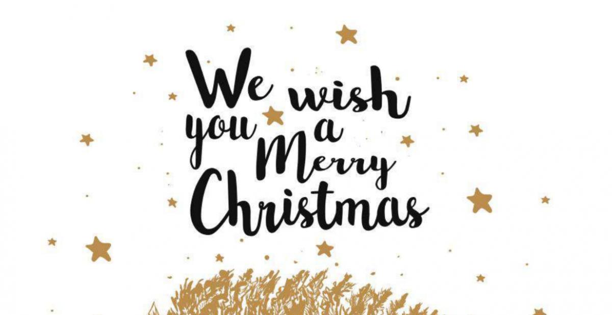 Lettering, Weihnachtsgruß, Merry Christmas, Wunderle, gefertigt in Werkstätten für behinderte Menschen