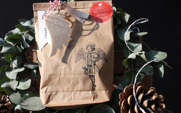 Für Schutzengel Wundertüte, Engel, Weihnachten, gefertigt in Werkstätten für Behinderte Menschen, Mitbringsel, Kleinigkeit