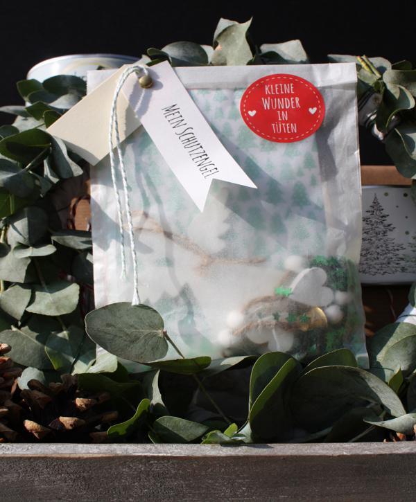 Mein Schutzengel-Tüte, Wundertüte, Engel, Kleinigkeit, Mitbringsel, gefertigt in Werkstätten für Menschen mit Behinderung, Weihnachten