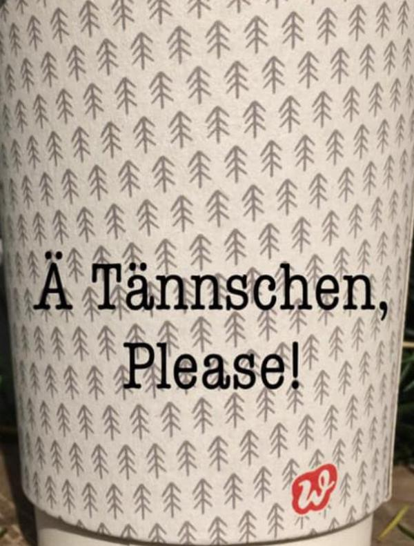 Glühwein To Go-Becher, Lettering, Ä Tännschen, Tannenbaum, Weihnachten, Advent, Weihnachtsstimmung
