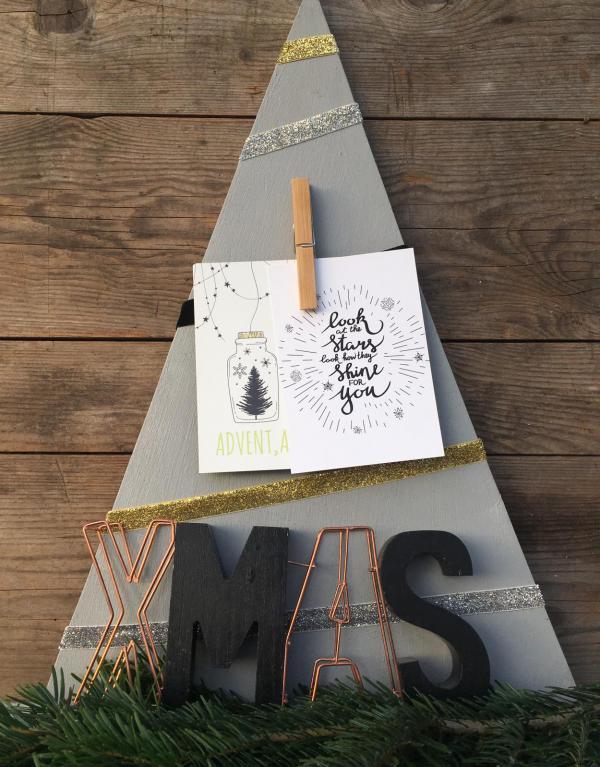 DIY, Tannenbaum, Postkarten, XMas, Weihnachten, Weihnachtsstimmung