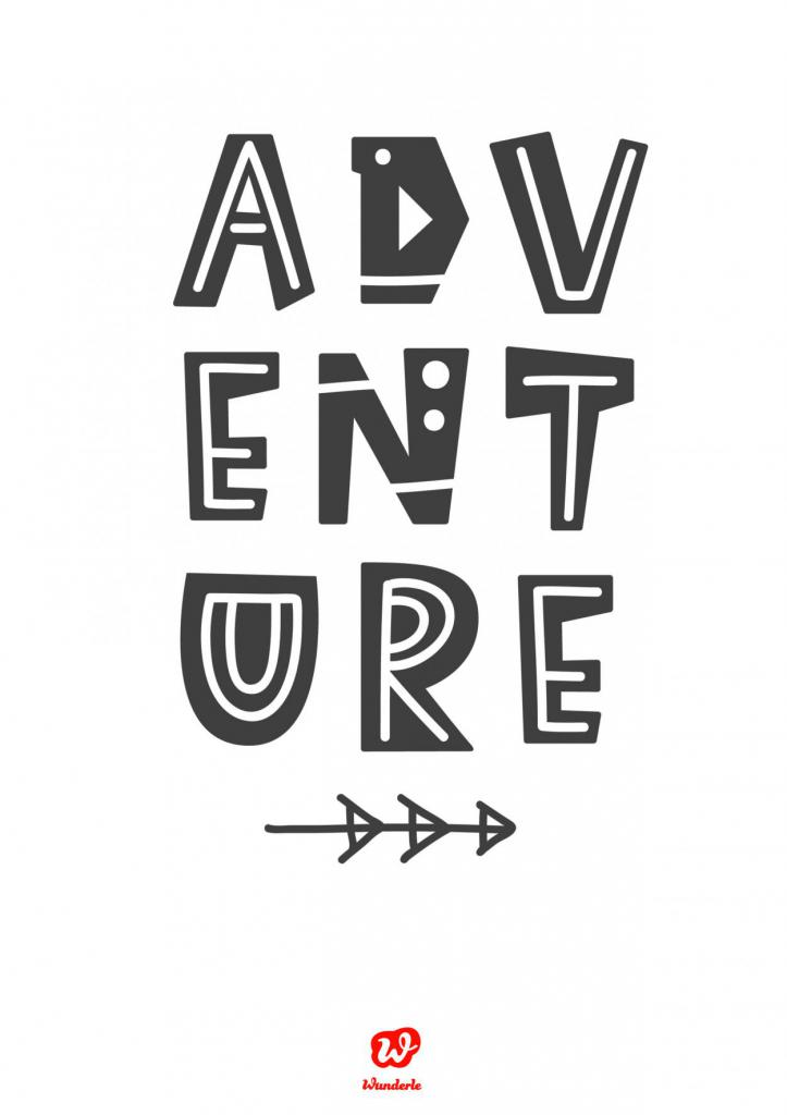 Lettering, Adventure, Freebie, Download, Free printable, Neubeginn