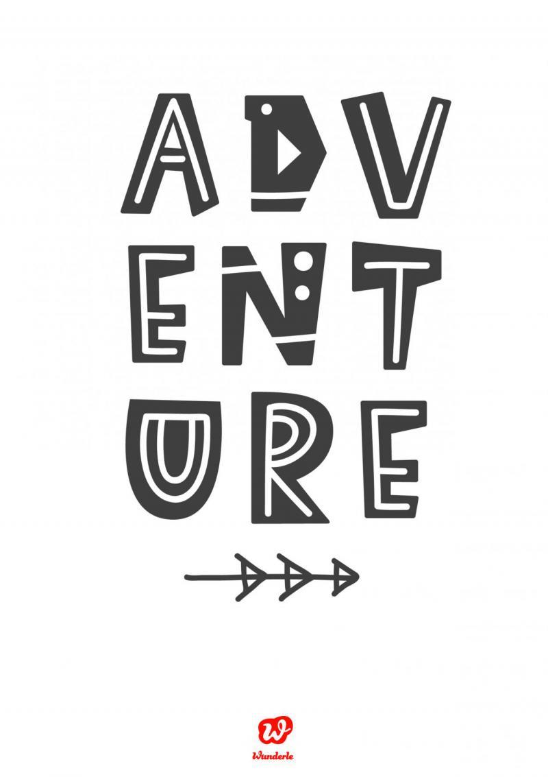 Lettering, Adventure, Freebie, Download, Free printable, Neubeginn