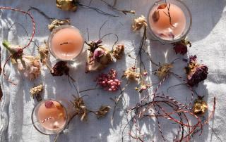 Kerzen und Wachsblumen, DIY, schnell gemacht, Winter, Kerzenvorräte