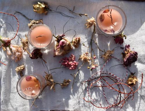 Reste vom Feste, Teil 2, Kerzen braucht man immer! Cozy days mit Wachsblumen
