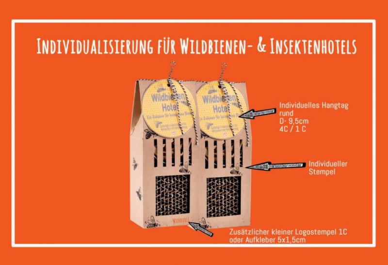 Individualisierung Bienenhaus, ganz auf ihr Unternehmen abgestimmt, Möglichkeiten, massgeschneidert, Wunderle, Bienenrettung, Wunderle, gefertigt in Werkstätten für behinderte Menschen