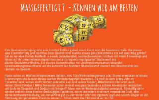 Text Flyer Individualisierung, Massgefertigte Werbegeschenke, PSI Düsseldorf