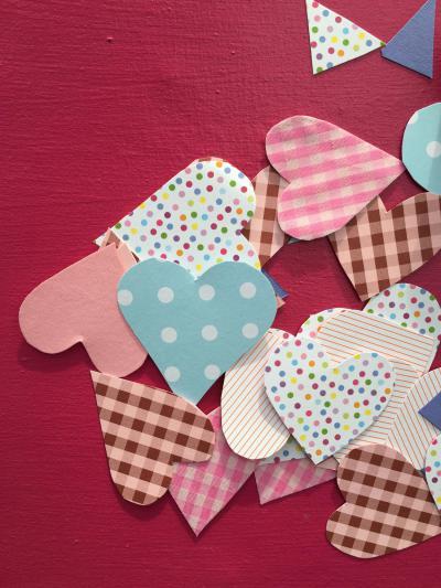 DIY, Papierherzen, Girlande, Liebe, verliebt