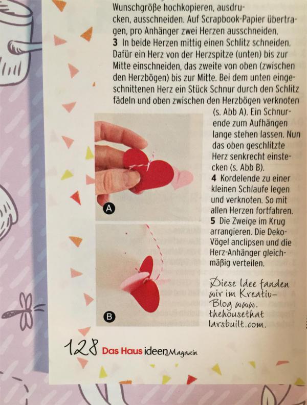 DIY, Herzanhänger, Haus Ideenmagazin, Frühling Liebe