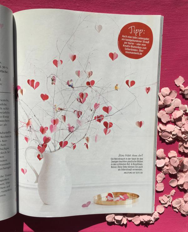 DIY, Herzanhänger, Herzchenanhanänger, Frühlingsstrauß, verliebt, Liebe