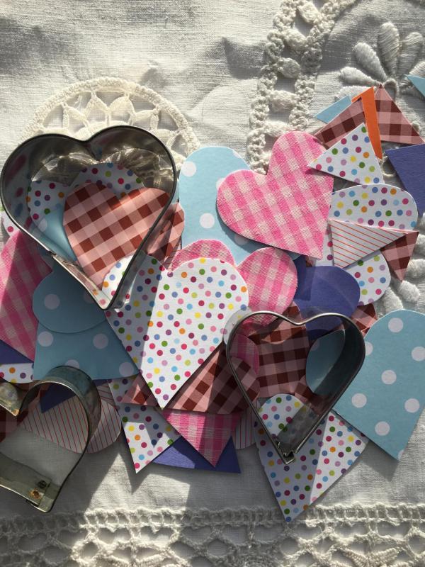 DIY, Herzen, verliebt, Liebe, Girlande
