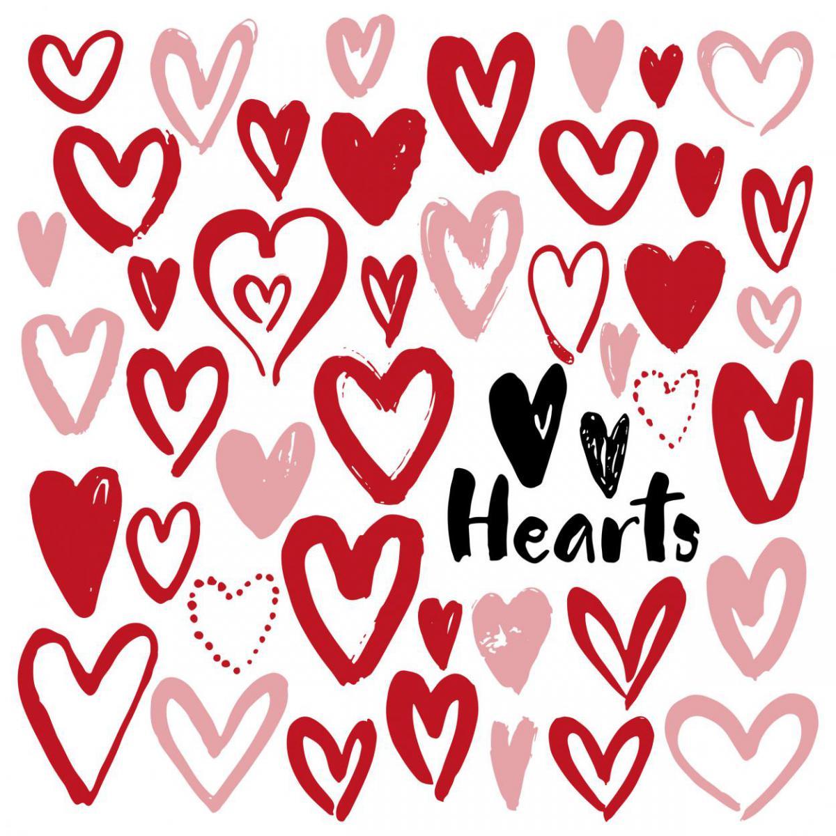 Herzen, hearts, Lettering, Liebe, mit Liebe, von Herzen