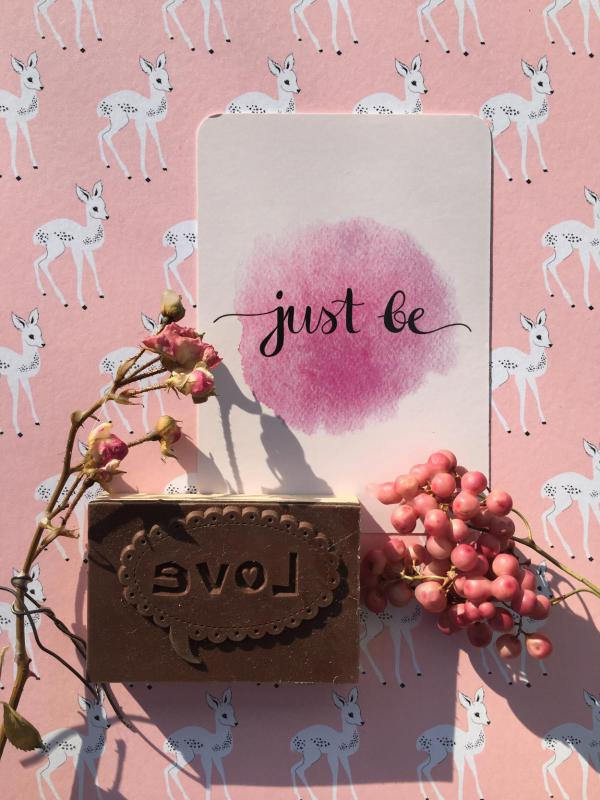 Achtsamkeitskarte, Just be, Reminder, Love, Frühling