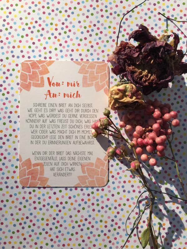Achtsamkeitskarte, Von mir an mich, kleine Auszeit, Wellness, Metime, Frühling