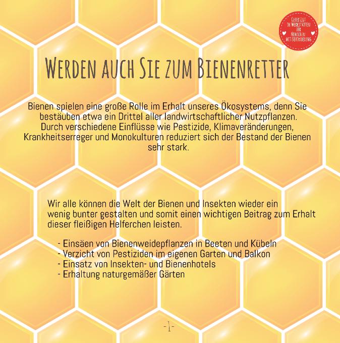 Wunderle Katalog, Bienenrettung, Save the bees, Info über Bienen
