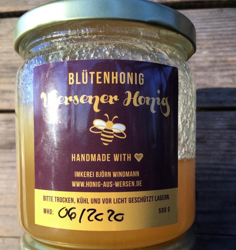 Honig, Wersener Honig, lecker, honigsüß, aus der Region, save the bees
