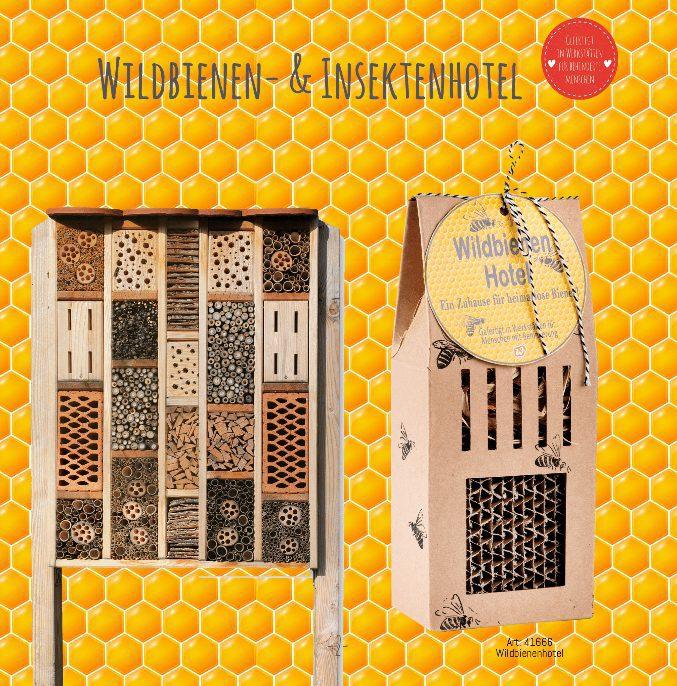 Wildbienenhotel, Insektenhotel, Bienenrettung, Save the bees, Naturschutz, unter die Flügel greifen