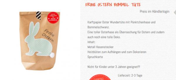 Wunderle, Frohe Ostern Wundertüte, Inhalt, Text Katalog, Beschreibung