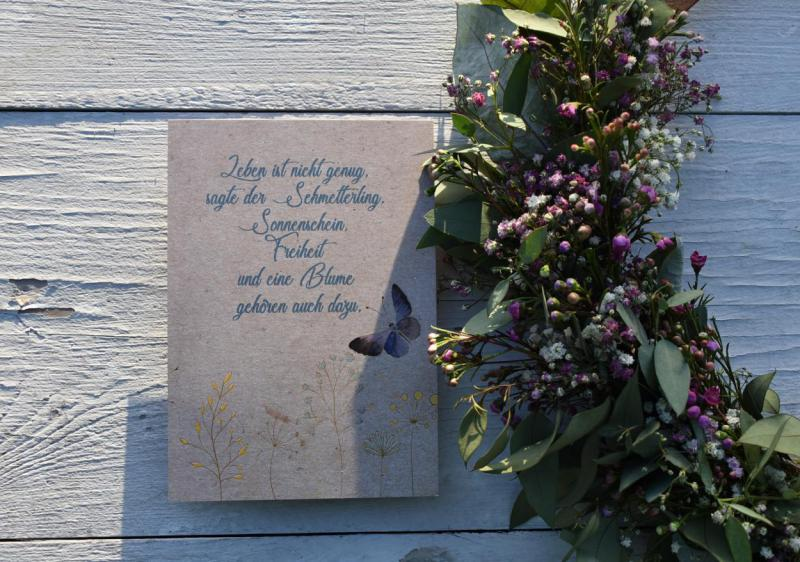Wunderle, Postkarte, Schmetterling, Frühling, Ostern, detailverliebt