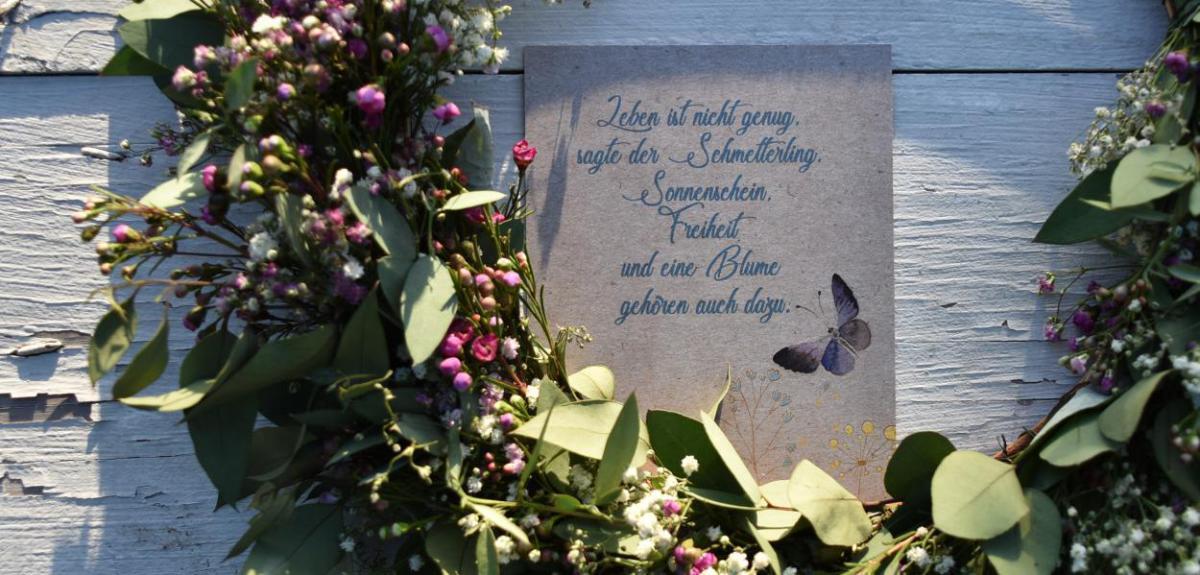 Wunderle, Postkarte, Schmetterling, Detail, Kleinigkeit, Geschenkideen
