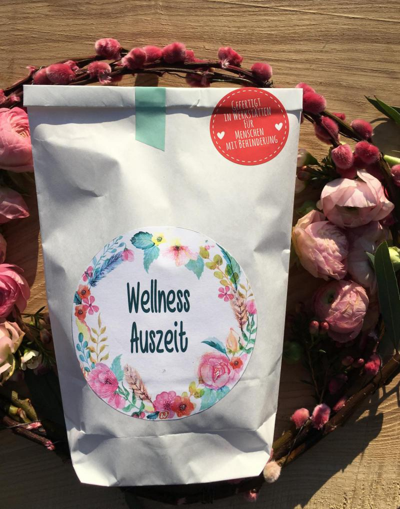 Wellness Auszeit, Wunderle, Wunderlewundertüte, Metime, Frühling, gefertigt in Werkstätten für behinderte Menschen, Geschenkideen
