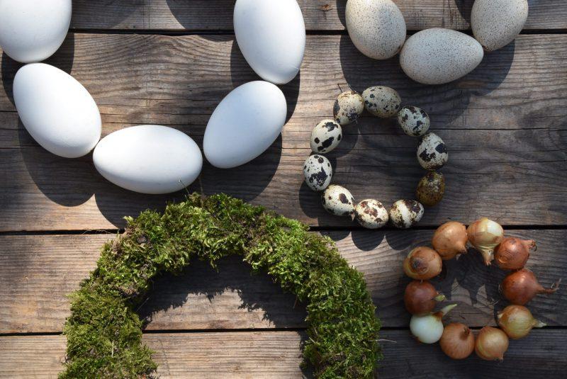 Kränze, natürliche Kränze, Osterkränzchen,Eier, Dekoration