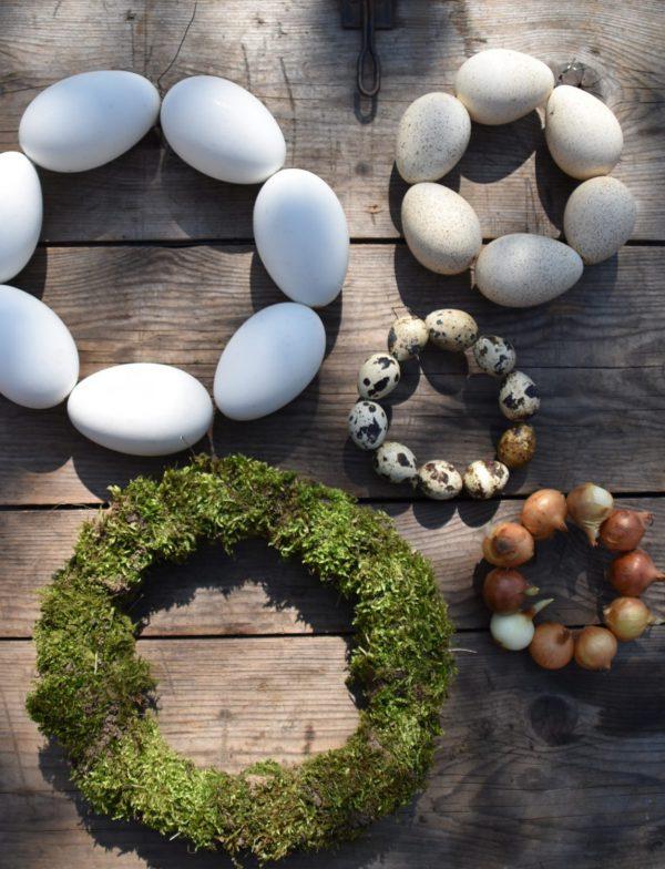 Eierkränze, Osterkränze, Frühling, Frohe Ostern
