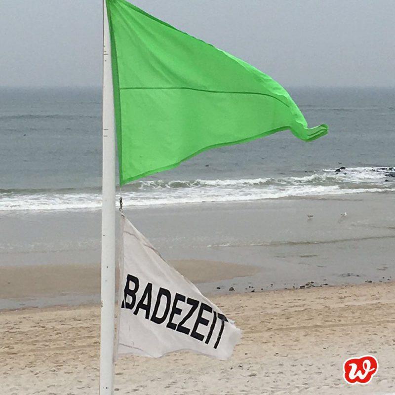 Badeflagge, Badezeit, am Meer, Meerzeit