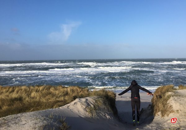 Strand, Meer, Weg zum Meer, Morgenlauf