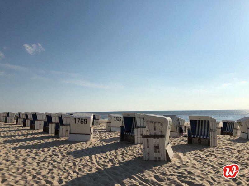 Strand, Strankörbe, Meer, Auszeit, die kleinen Dinge, Wunder