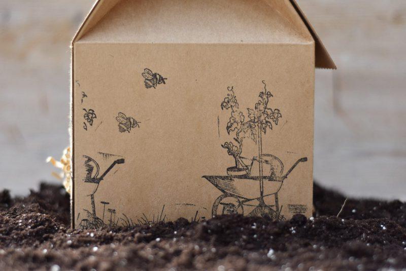 GartenstarterSet, Gartenglück, grüner Daumen, Geschenk, Geschenkidee, gefertigt in Werkstätten für behinderte Menschen