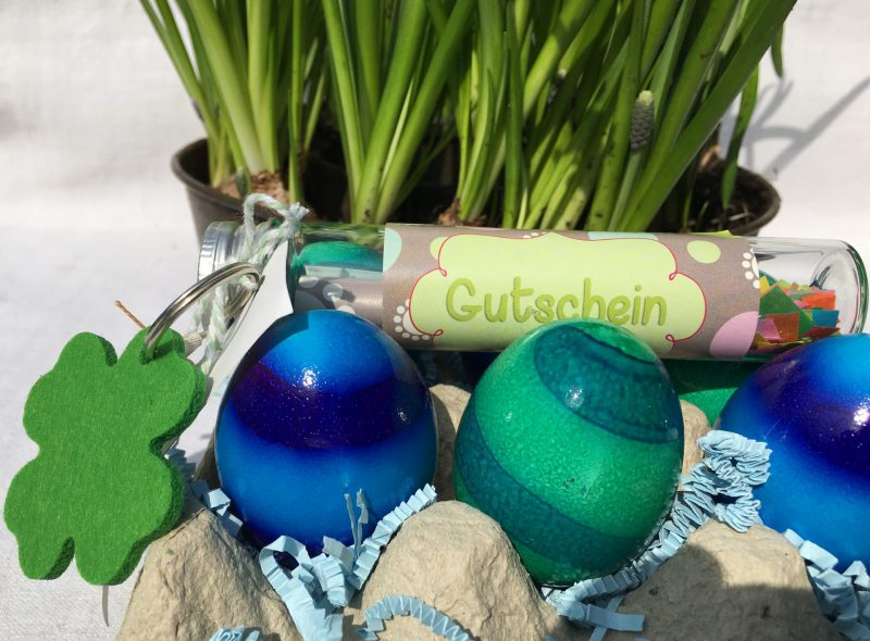 Eierpappe, Wunderle Gutschein, Ostern, Frühling, Ostergeschenke, Eier