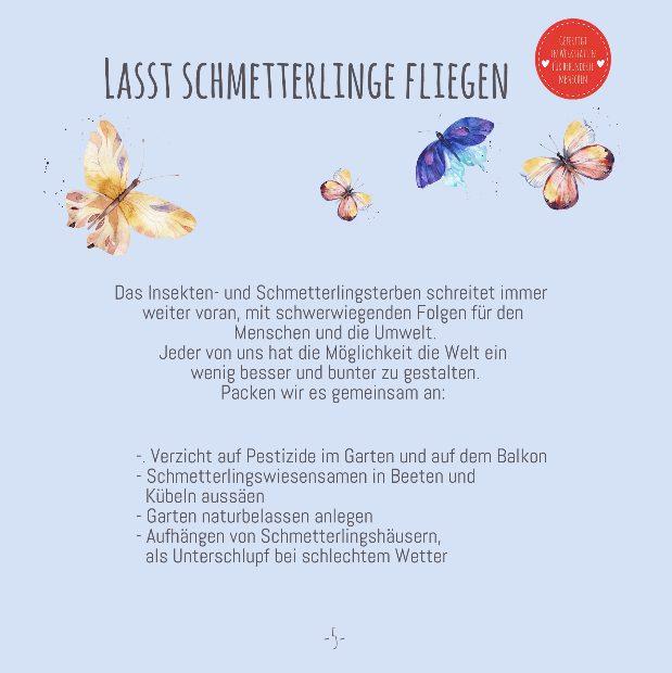 WunderleKatalog, Schmetterlinge, Frühling, Insektenschutz, Naturliebe