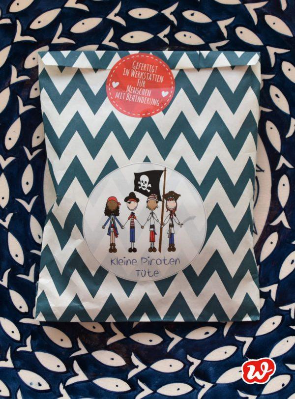 Wunderle, Kleine Piratentüte, Geschenk, Geschenkidee, gefertigt in Werkstätten für Menschen mit Behinderung
