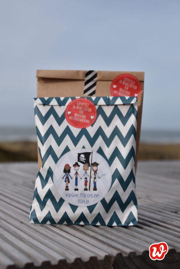 Wunderle, Wundertüte, Geschenk, Geschenkideen, gefertigt in Werkstätten für Menschen mit Behinderung, Kleine PiratenTüte