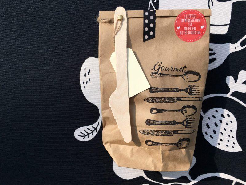 GourmetTüte, Wunderle, lecker, Geschenk, Mitbringsel, gefertigt in Werkstätten für behinderte Menschen
