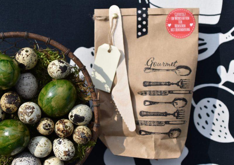 GourmetTüte, Wunderle, Packpapierwundertüte, Geschenkideen, gefertigt in Werkstätten für Menschen mit Behinderung, Kleinigkeit, Mitbringsel, Geschenk