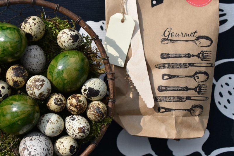 GourmetTüte, Wunderle, Packpapierwundertüte, Geschenk, gefertigt in Werkstätten für Menschen mit Behinderung, Ostereier, lecker,Frühling